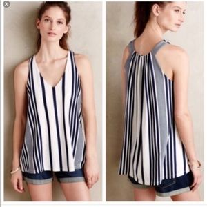 Anthropologie Puella Swing Striped Tank Top